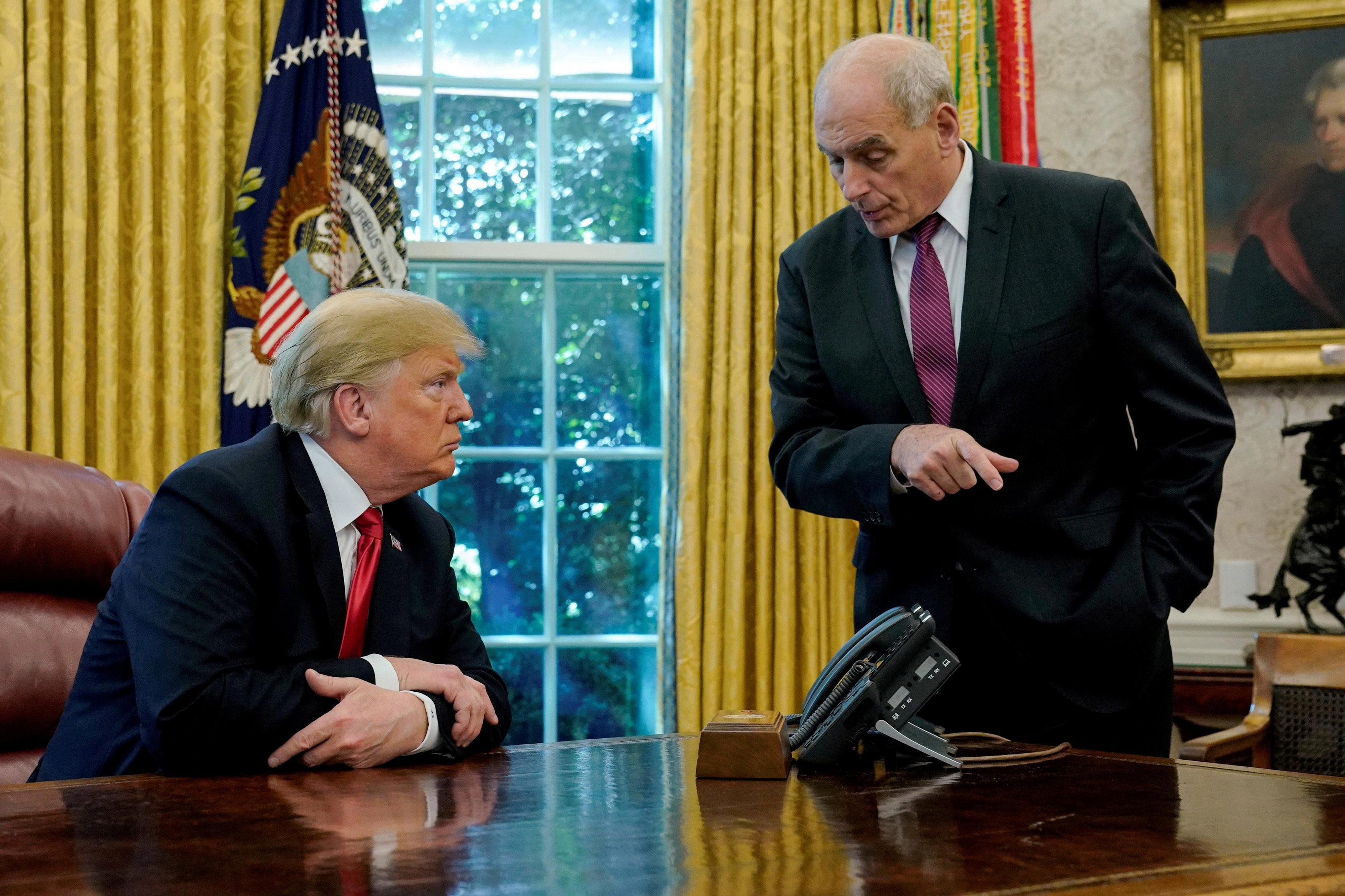 Donald Trump and axed Chief of Staff John Kelly refused even to SPEAK to each other during White House war