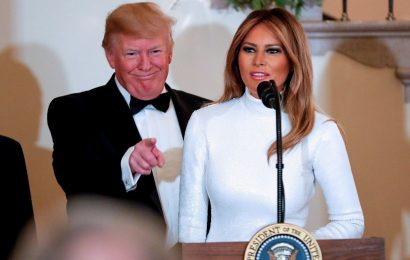 Melania Trump wows in white at Congressional Ball as Donald praised 'incredible' two years as President while Mueller probe looms