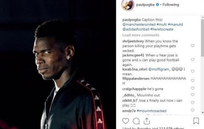 Man Utd to fine Paul Pogba for posting smirking image after Jose Mourinho firing