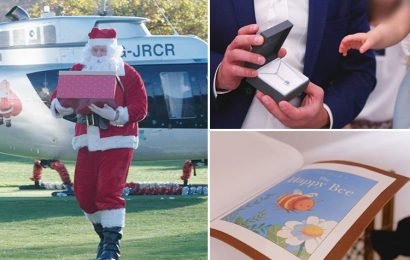Inside the Billionaire Babies' Christmas, including Santa arriving in a helicopter, £100k diamonds and a £23k colouring book