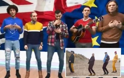 Dutch pop band called the 'Breunion Boys' mocked after releasing ridiculous song 'Britain Come Back'