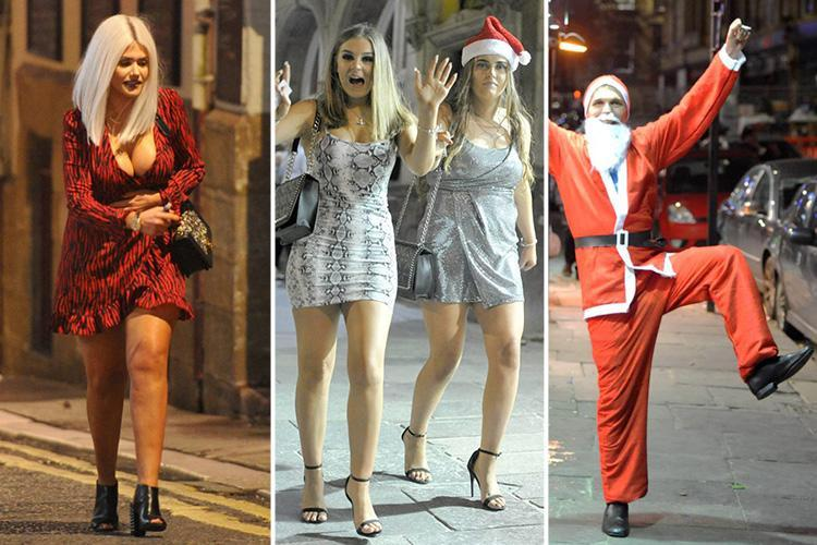 Boozed-up Brits enjoy a VERY merry start to Christmas party season (and some will have sore heads today)
