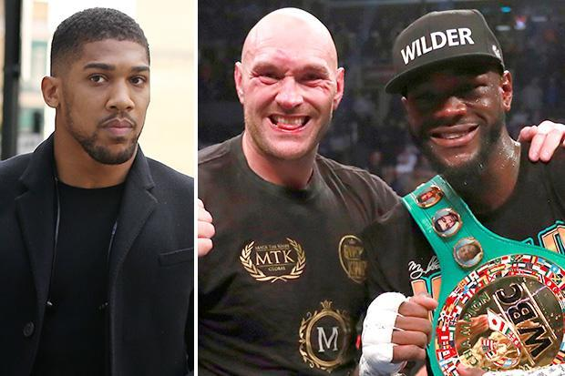 Anthony Joshua likes tweet insisting he will never fight rivals Tyson Fury or Deontay Wilder