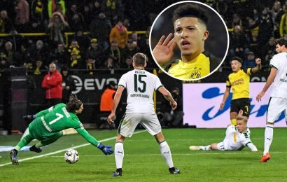Watch Jadon Sancho score moments after bamboozling defenders with amazing skills