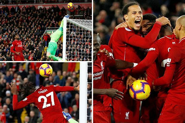 Liverpool 1 Everton 0: Divock Origi scores bonkers injury-time winner as Liverpool steal three points in derby clash with Everton