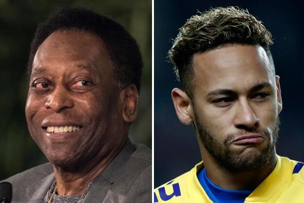 Neymar has been warned by Pele who can no longer defend the diving PSG star