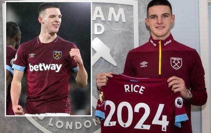 Declan Rice signs new West Ham deal worth £30,000-a-week to end City interest
