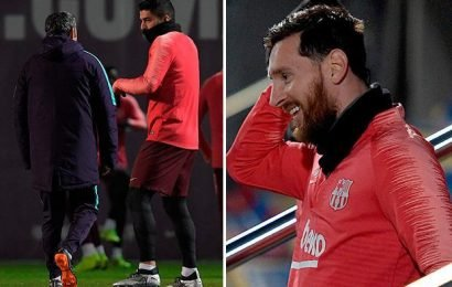 Tottenham given huge boost with Luis Suarez out and Lionel Messi doubtful for Champions League clash
