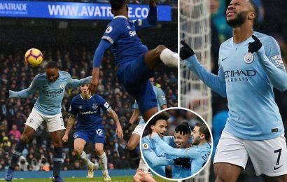Man City 2 Everton 1: Gabriel Jesus double takes champions back to top of table