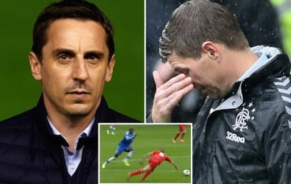 18fb9561173e Gary Neville is convinced Alisson would have saved Demba Ba s goal against  title chasing Liverpool after
