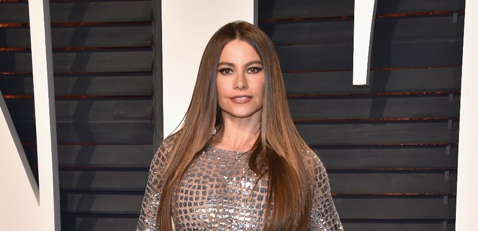 Sofia Vergara Shares Hilarious Throwback Photo With Her Son In Sexy Plunging Black Dress