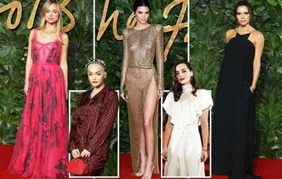 Victoria Beckham, Kendall Jenner and Lady Amelia Windsor bring the glamour to The Fashion Awards 2018