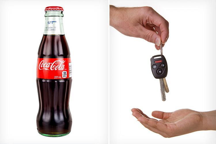 You can get a free Coca Cola or Diet Coke if you're the designated driver this Christmas season