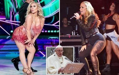 Pope bans Anastacia from performing sexy Strictly Come Dancing moves or wiggling at Vatican City show