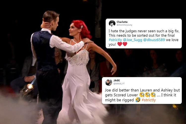Strictly judges accused of under-marking Joe Sugg by viewers in new 'fix storm'