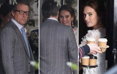 Four Weddings And A Funeral sequel: Hugh Grant walks daughter Lily James down the aisle
