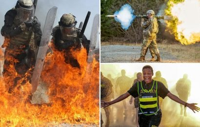 Incredible pics reveal the highs and lows of the US military's action-packed year