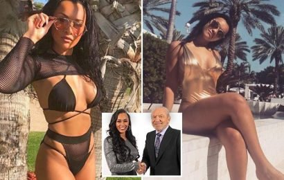 Sexy Apprentice winner Sian Gabbidon vows to keep stripping on Instagram to promote her swimwear brand