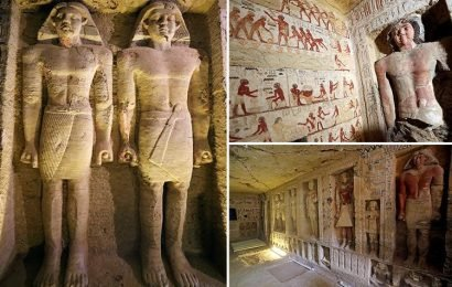 Ancient Egyptian tomb filled with incredible statues and carvings unearthed after 4,400 years buried beneath desert