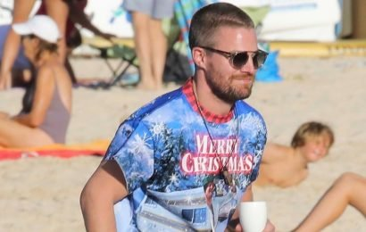 Stephen Amell Returns to St. Barts on Christmas for Sixth Wedding Anniversary!