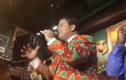 Fox News' Bret Baier Raps with Sugarhill Gang at His Show's Holiday Party