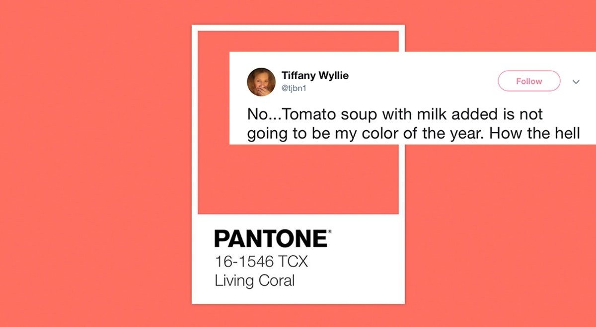 """These Tweets About """"Living Coral,"""" Pantone's 2019 Color Of The Year, Will Slay You"""