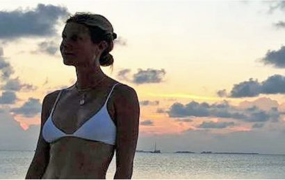 Gwyneth Paltrow Is Rocking the Hell Out of This White Bikini, and I'll Have What She's Having