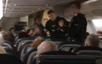 Cops storm TUI plane diverted from Gatwick after 'man claimed to be a TERRORIST so fed-up passengers could get off'