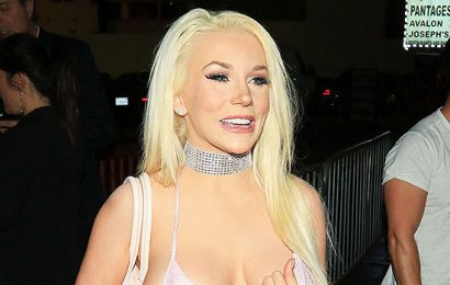 Courtney Stodden Flaunts Bare Butt In White Thong & Bra While Playing The Drums