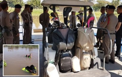 Two golfers drown on Christmas Day 'when their buggy was rammed into a river by a cart driven by their wives'