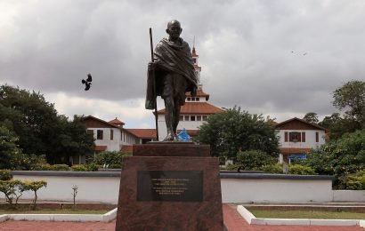Gandhi's 'racist' words lead to removal of statue in Ghana