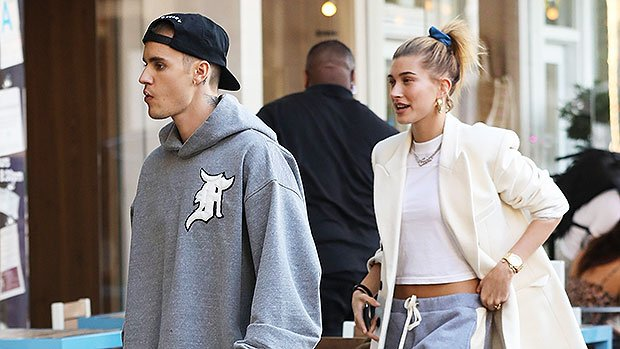 Justin Bieber & Hailey Baldwin: Clone Couple In Matching Gray Sweats — Who Wore It Best?