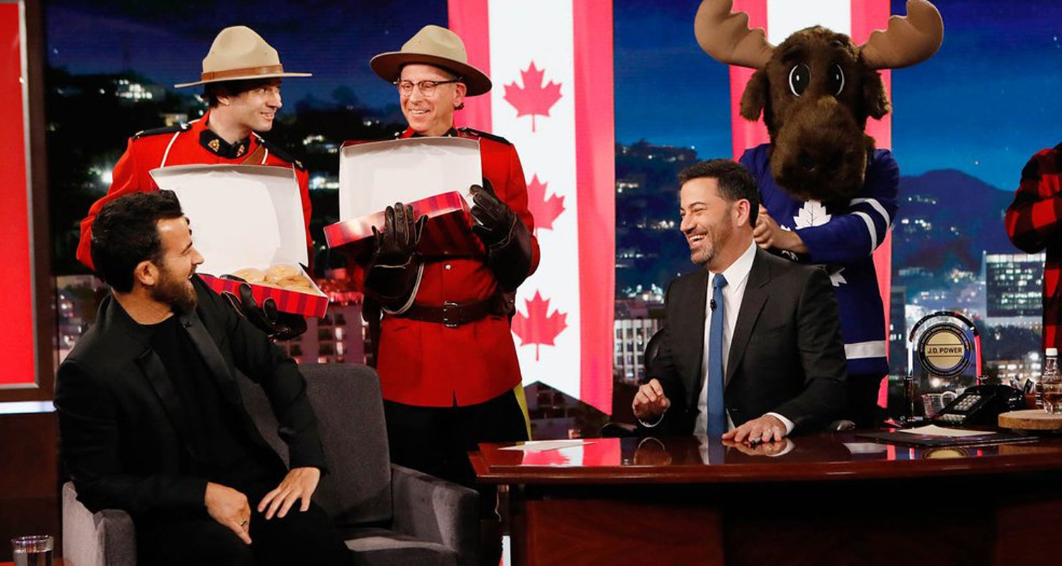 Jimmy Kimmel Hilariously Mistakes Justin Theroux for Justin Trudeau – Watch Here!