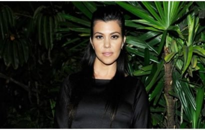 Kourtney Kardashian Snuggles Up To The Grinch In Sexy See-Through Shirt