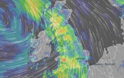 Weather forecast – UK on flood alert as torrential rain and 70mph winds to batter Britain – see how it will affect you
