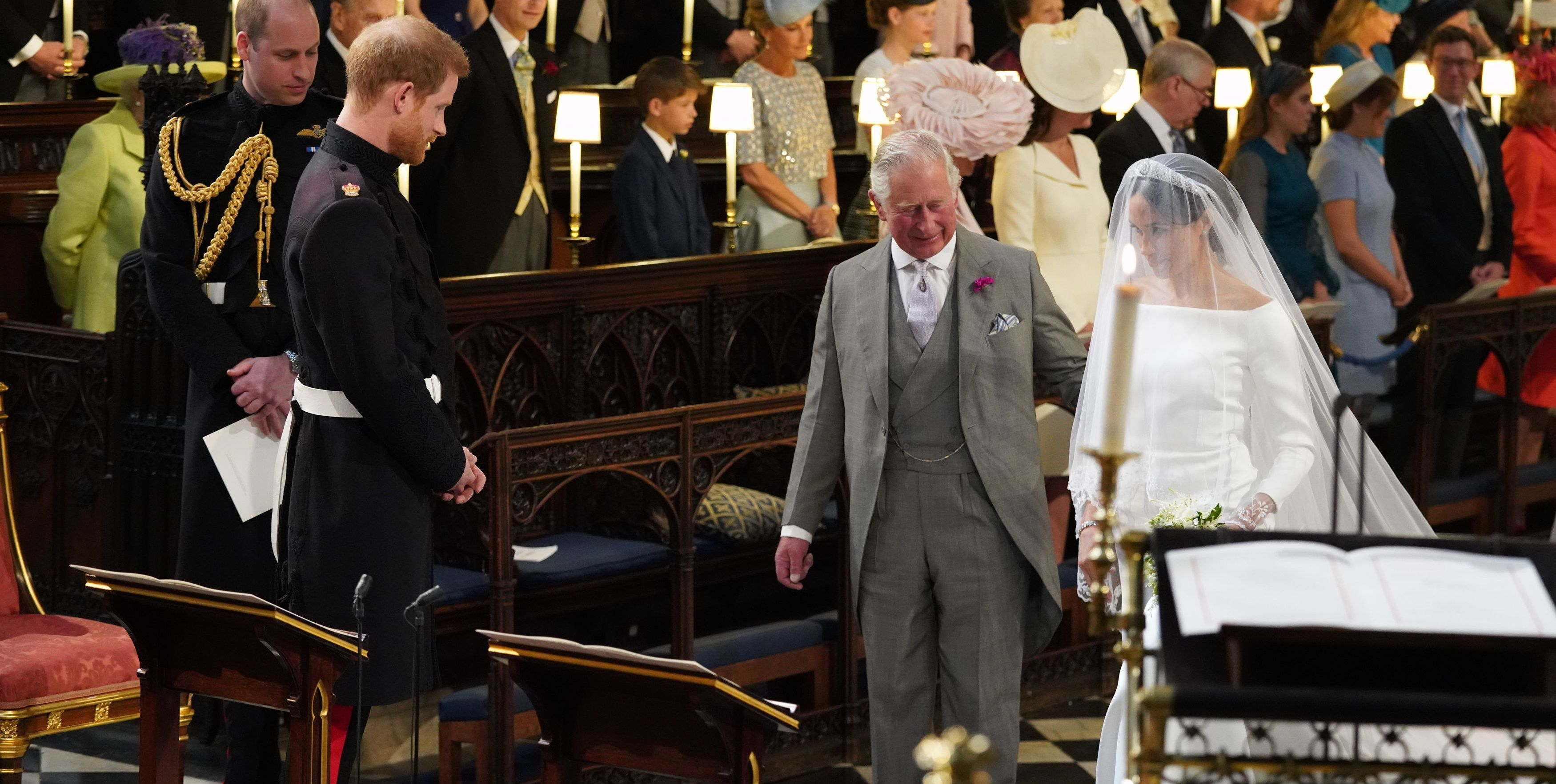Prince Charles Reportedly Framed a Photo of Himself Walking Meghan Down the Aisle