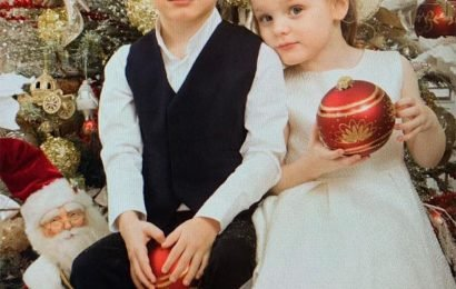 Monaco Twins Prince Jacques and Princess Gabriella Are Ready for Christmas! See the Cute Portrait