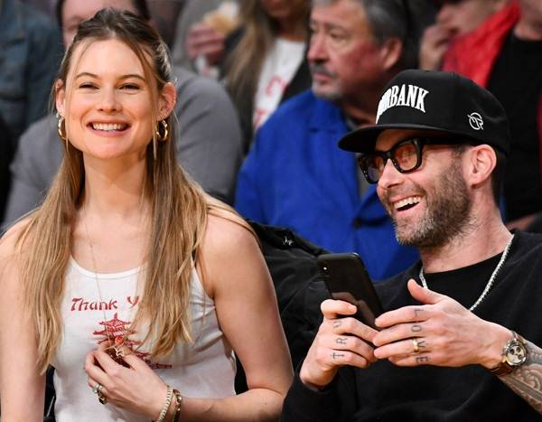 Adam Levine and Behati Prinsloo's Date Night Gets Competitive