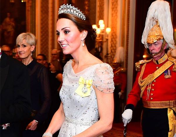 Kate Middleton Dazzles in Lover's Knot Tiara at Diplomatic Reception