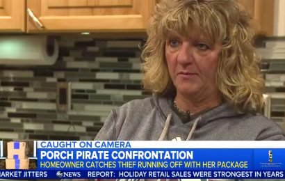 Woman Films Confrontation After Package Is Stolen from Her Door — and She Gets Her Stuff Back