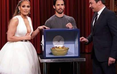 Jennifer Lopez and Jimmy Fallon Freak Themselves Out Blindly Touching Weird Objects