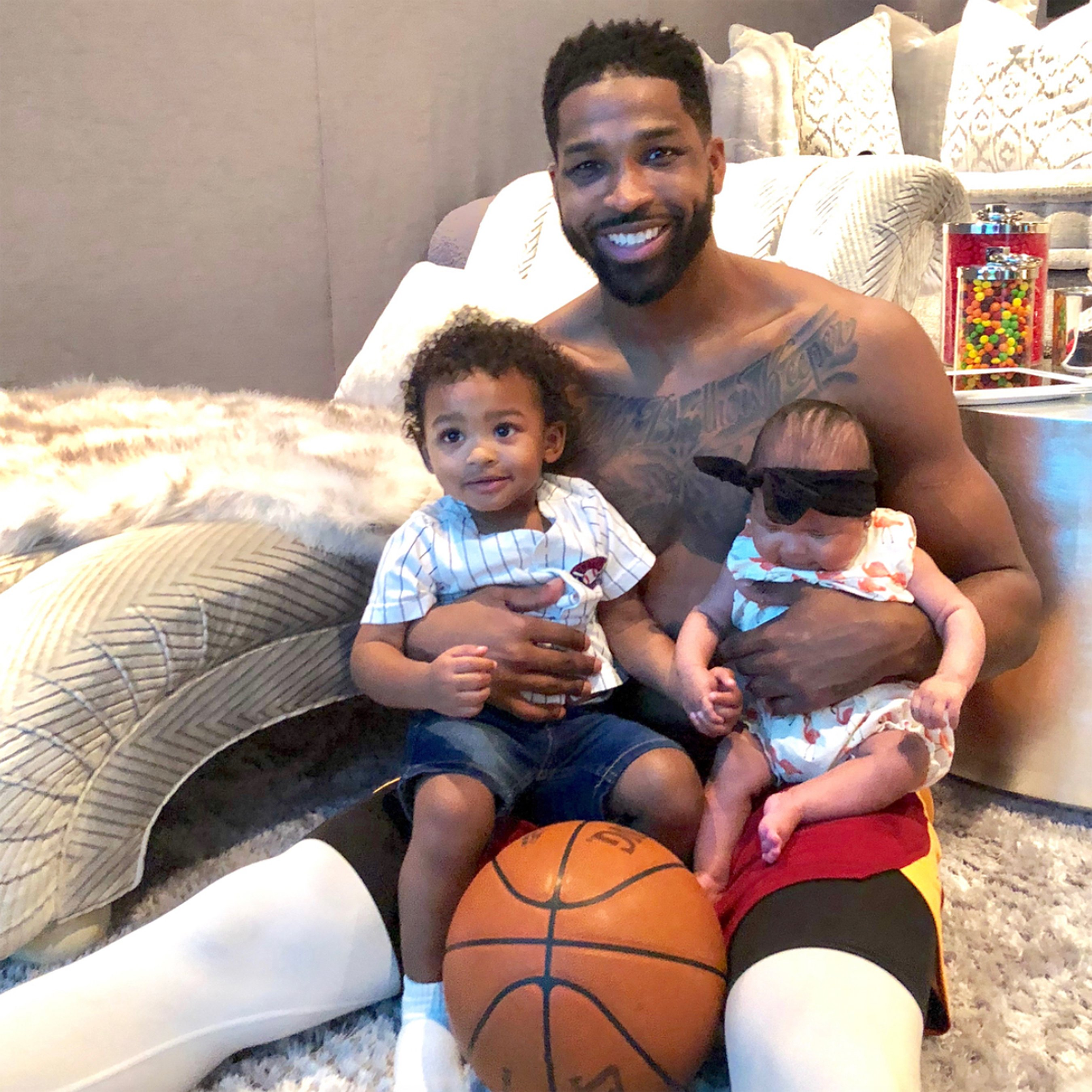Khloé Kardashian's BF Tristan Thompson Jokes Christmas Will Be 'More Expensive' with 2 Kids