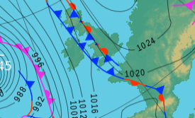 Wednesday's UK weather forecast — cloudy with outbreaks of rain and clearer skies in the east