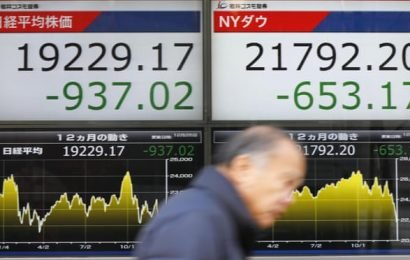 Tokyo stocks plunge in Christmas rout amid fears over US economy