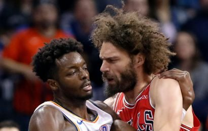 Two players suspended, three fined after Bulls-Thunder scuffle