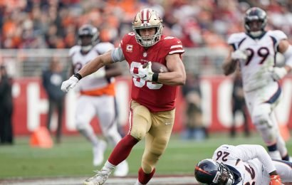 Fantasy football sizzlers, fizzlers: George Kittle thrives over the middle