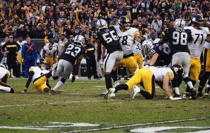 Steelers lose to Raiders as kicker Chris Boswell falls on potential game-tying kick