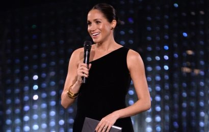 Duchess Meghan makes surprise (and very chic) appearance at British Fashion Awards