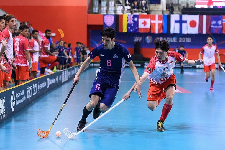 Floorball: Singapore beaten but not floored