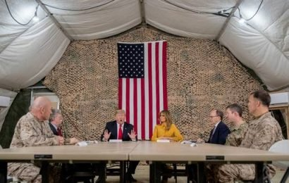 Trump defends decision to withdraw troops from Syria during surprise visit to Iraq